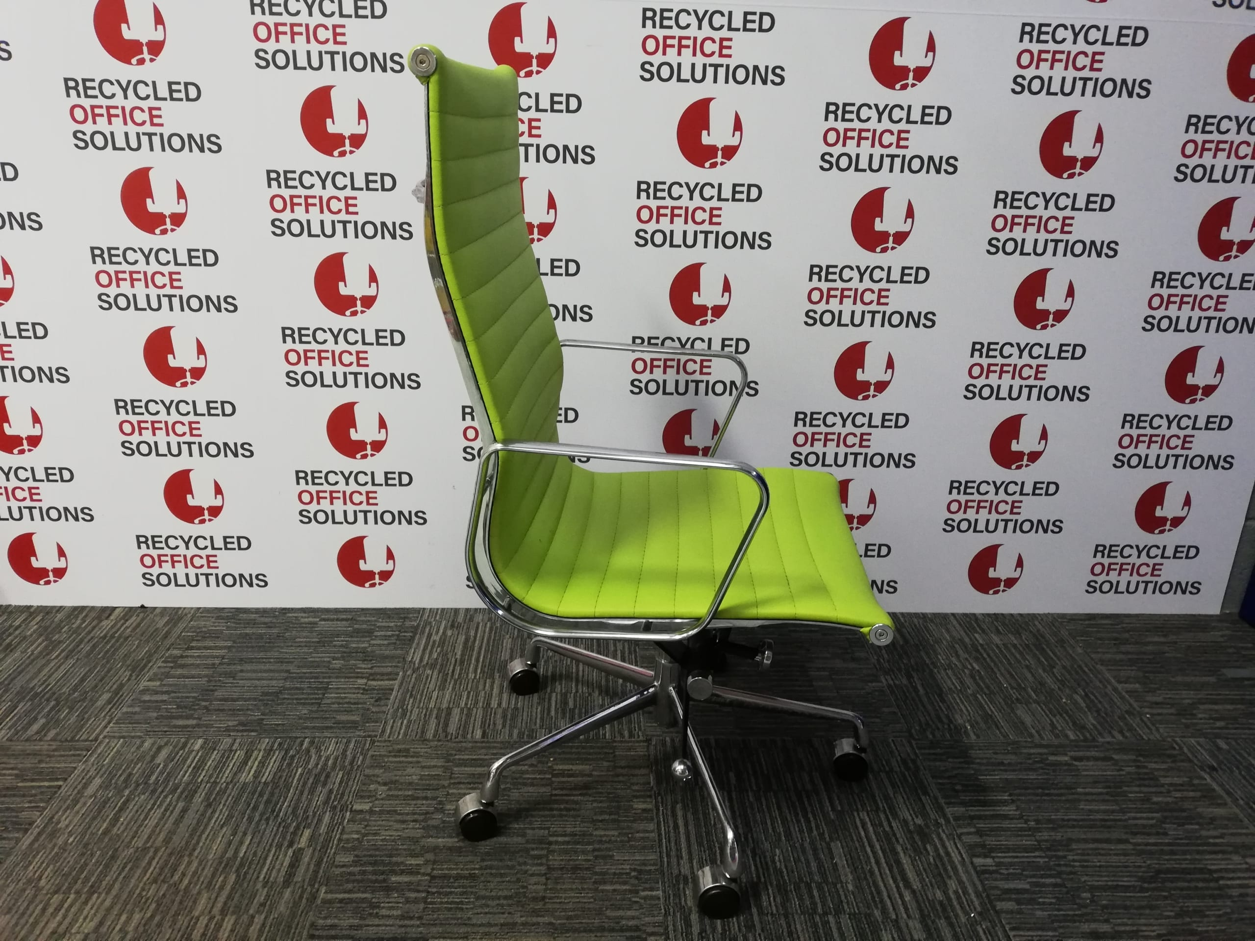 Picture of: Lime Green Executive Office Chair Recycled Office Solutions Recycled Office Furniture New Office Furniture Business And Corporate Office Clearance